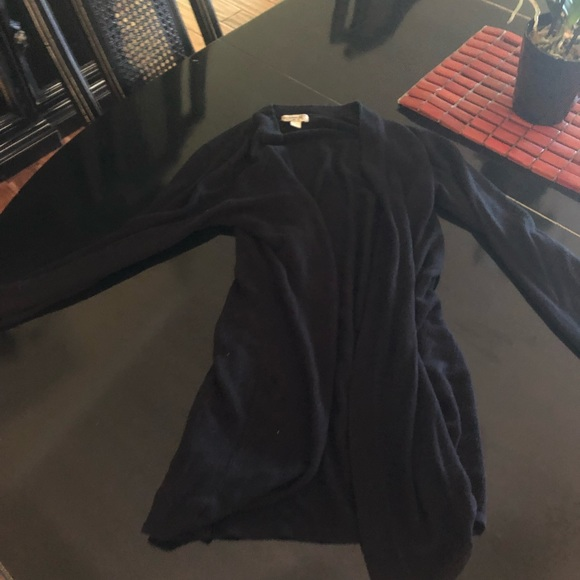 ONE WORLD Sweaters - Long black cardigan only worn couple times